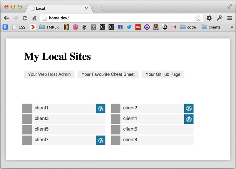 Local Home Screenshot